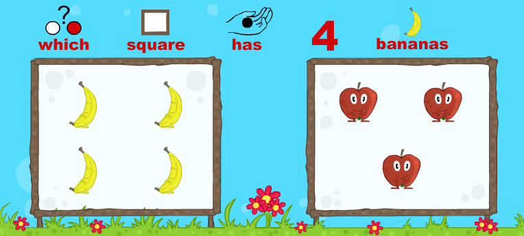A game to practice with counting and learning words